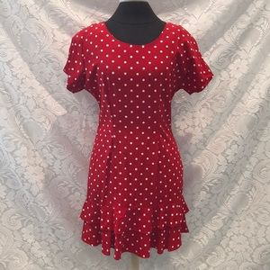 Vintage Petite Polka Dot Dress